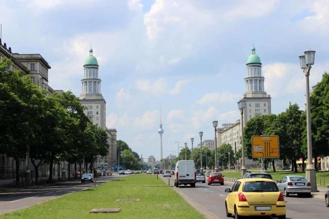 Stalin Allee in Berlin Friedrichshain